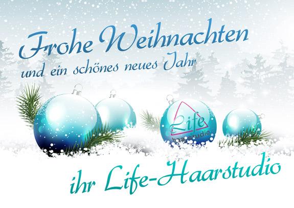 Frohe Weihnachten, Ihr Life Haarstudio